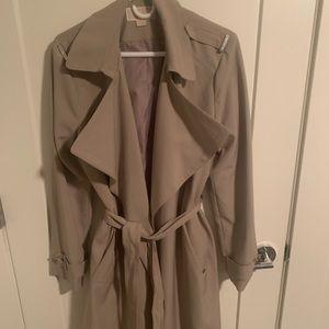 Michael By Michael Kors tan trench coat
